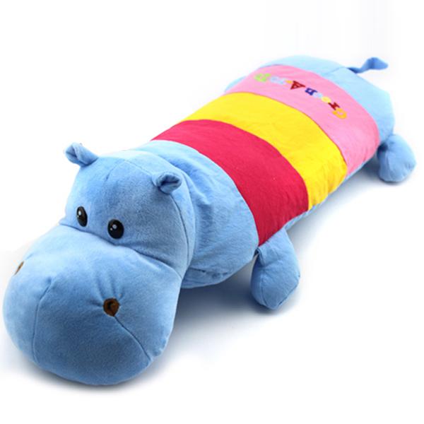【送夏枕席】儿童玩具枕头卡通荞麦加长枕头枕男女宝宝软硬双面