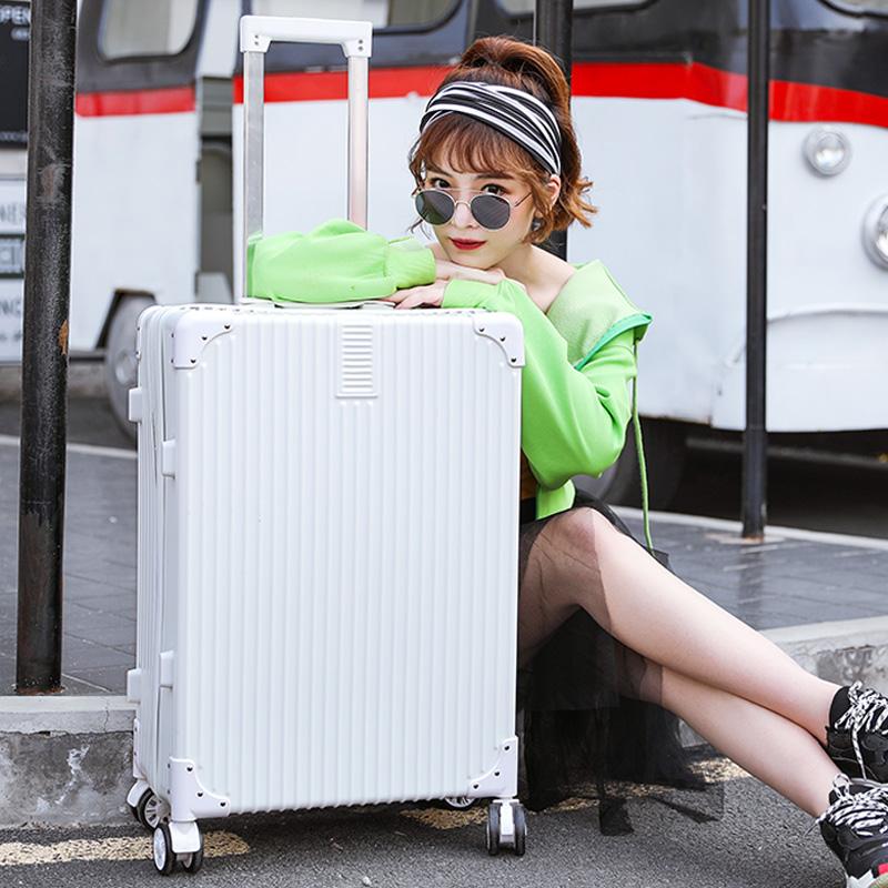 Trolley case universal wheel suitcase female 20 boarding code box 24 luggage box 26 inch Red Net