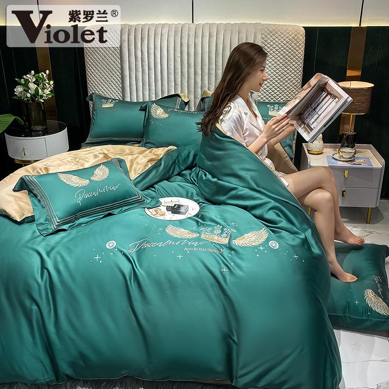 紫罗兰60s天丝刺绣夏季冰丝床单评价如何
