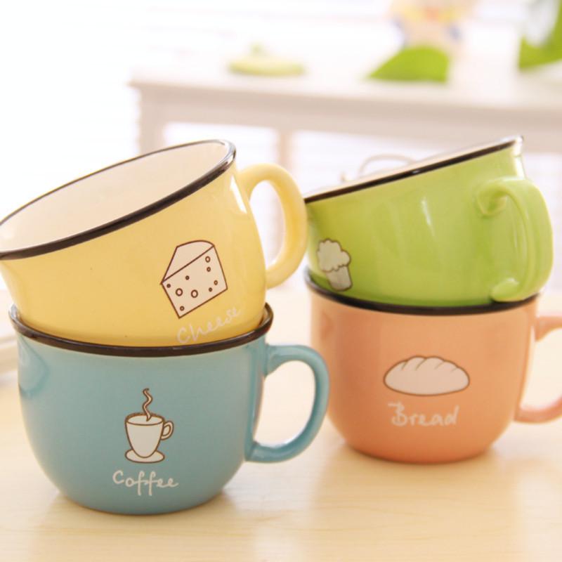 日式个性情侣早餐杯创意陶瓷杯加厚马克杯子亲子水杯买衣服满就送