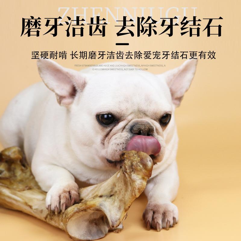 厂家直销宠物零食无添加烘干牛大骨大型犬磨牙洁齿训犬奖励狗零食图片
