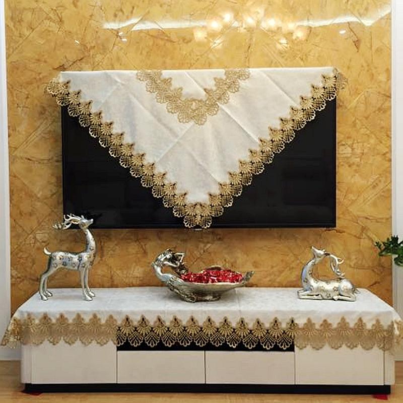 Высококачественный телевизор крышка ткань континентальный жк телевизор пылезащитный чехол настенный рабочий стол телевидение обложка тканевая телевизионный шкаф полотенце