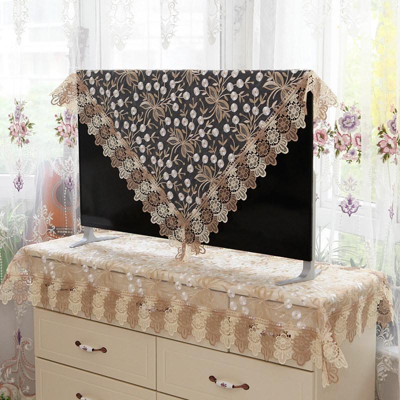 电视机罩布艺欧式液晶电器防尘罩壁挂台式32 50 55英寸60电视盖布