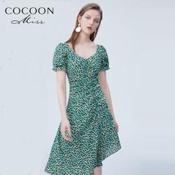 天猫预售miss COCOON2020夏装新款女装气质性感不规则下摆连衣裙