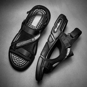 八哥凉鞋男士2019新款夏季百搭沙滩鞋青年潮流运动休闲软底凉拖鞋