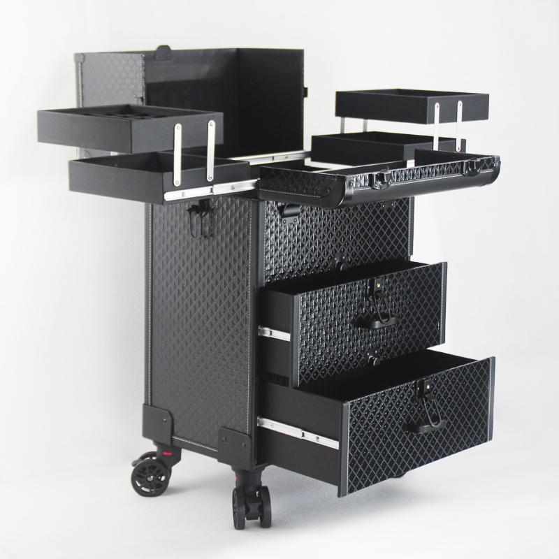 大号容量跟妆师多层专业拉杆化妆箱美睫美甲纹绣多功能收纳工具箱