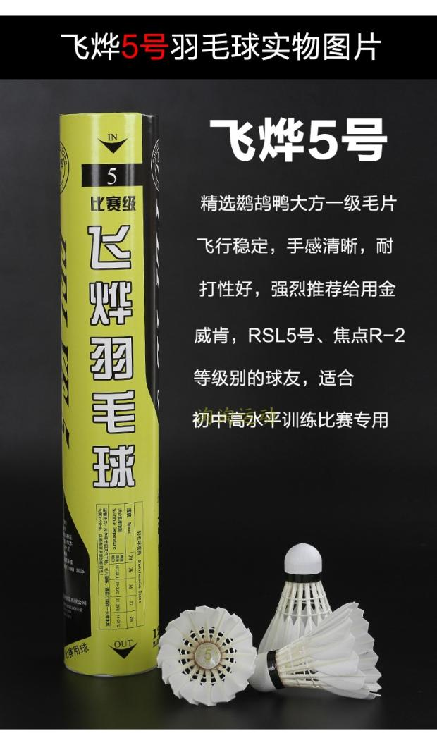 Feiye series no.9/8/5/2/1 badminton, durable, stable, dry and dry