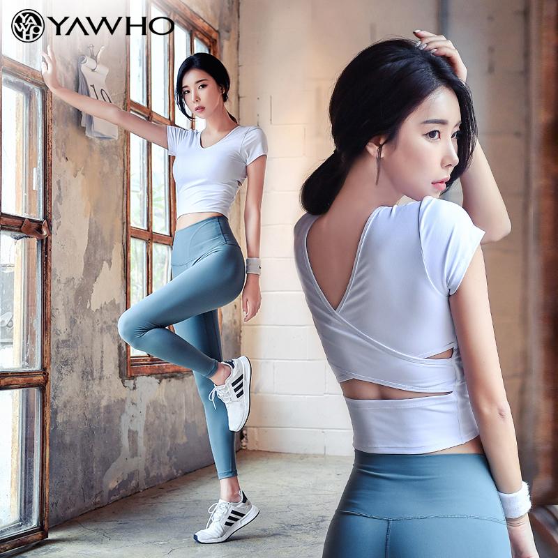 瑜伽服女夏季薄款健身房跑步速干运动套装女初学者网红时尚健身服