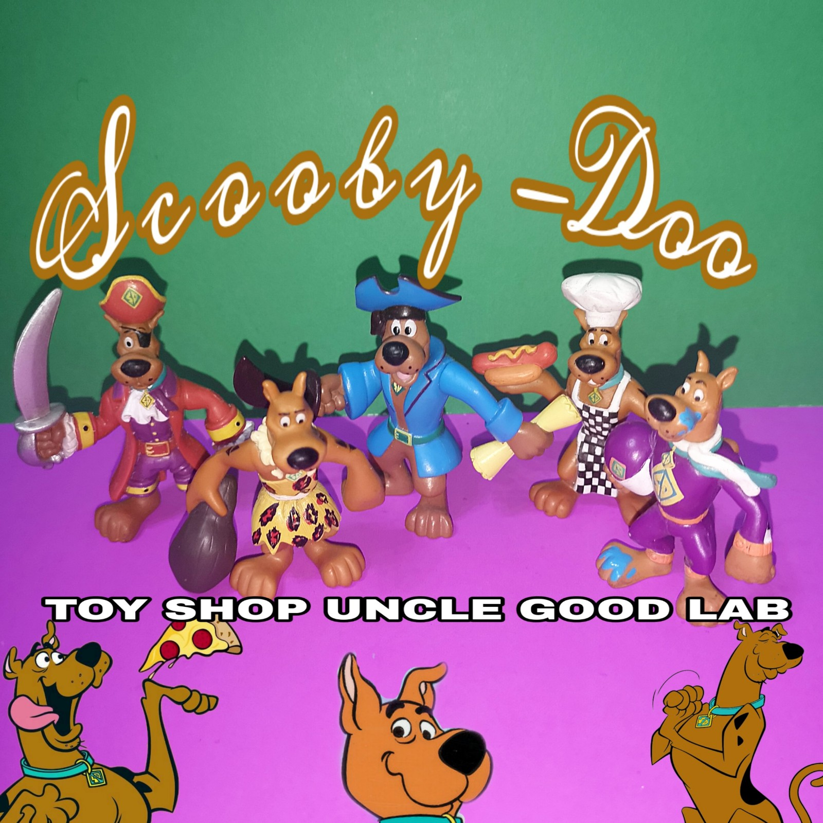 Original limited edition Scooby toy handmade doll ornament model doll hand collection gift gift