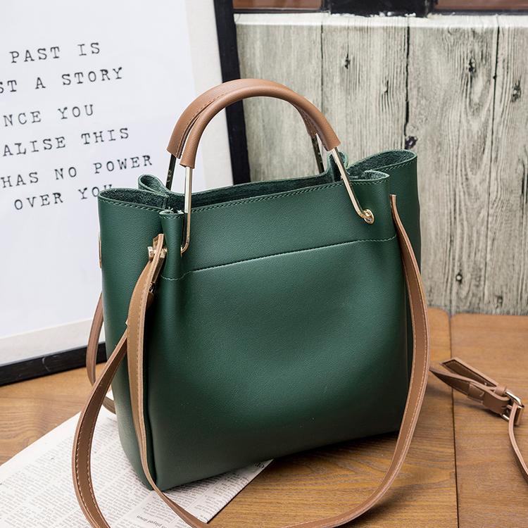 包包女2019新款女包水桶包潮韩版简约百搭斜挎包手提包单肩包大包