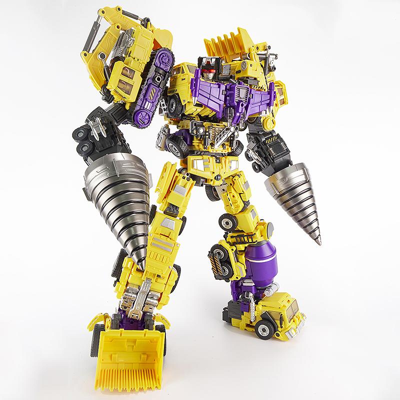 限9999张券金宝变形玩具金刚 黄色大力神带配件包 放大GT霸天虎工程车机器人