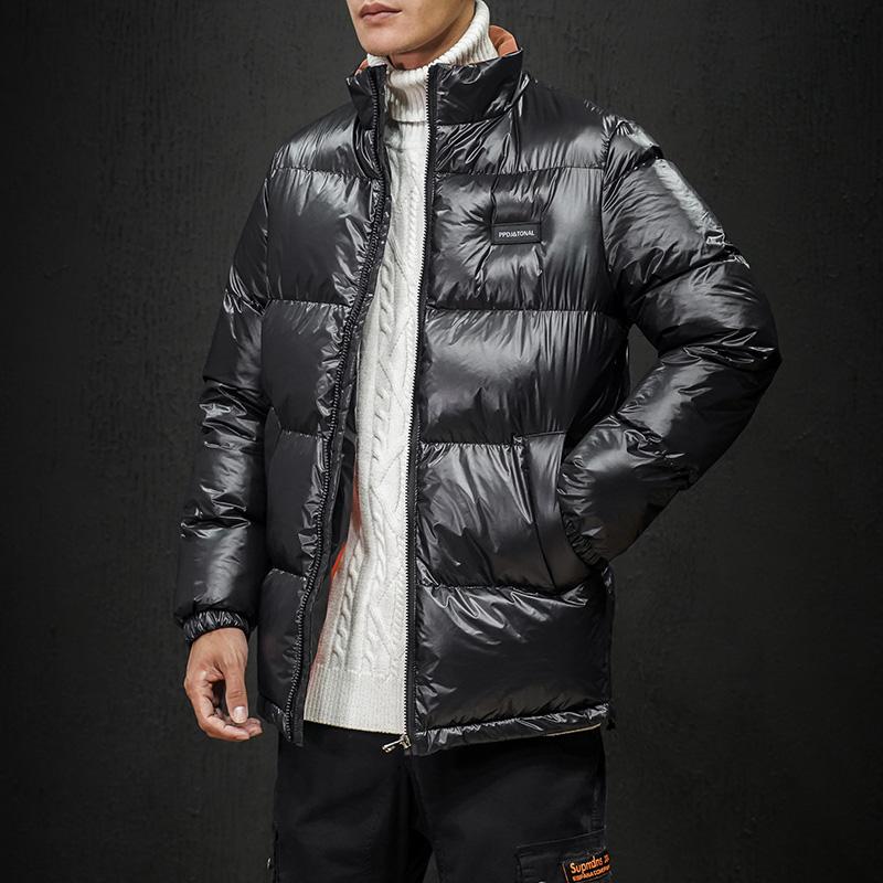 2019冬季新黑墙日系潮流大码男保暖加厚棉衣休闲外套棉袄M752-P90