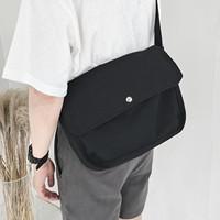 Белый 7 Дикие повседневные путешествия стиль Сплошной цвет японского холста студента один плеча винтаж почтальон пакет мужские и женские книга пакет