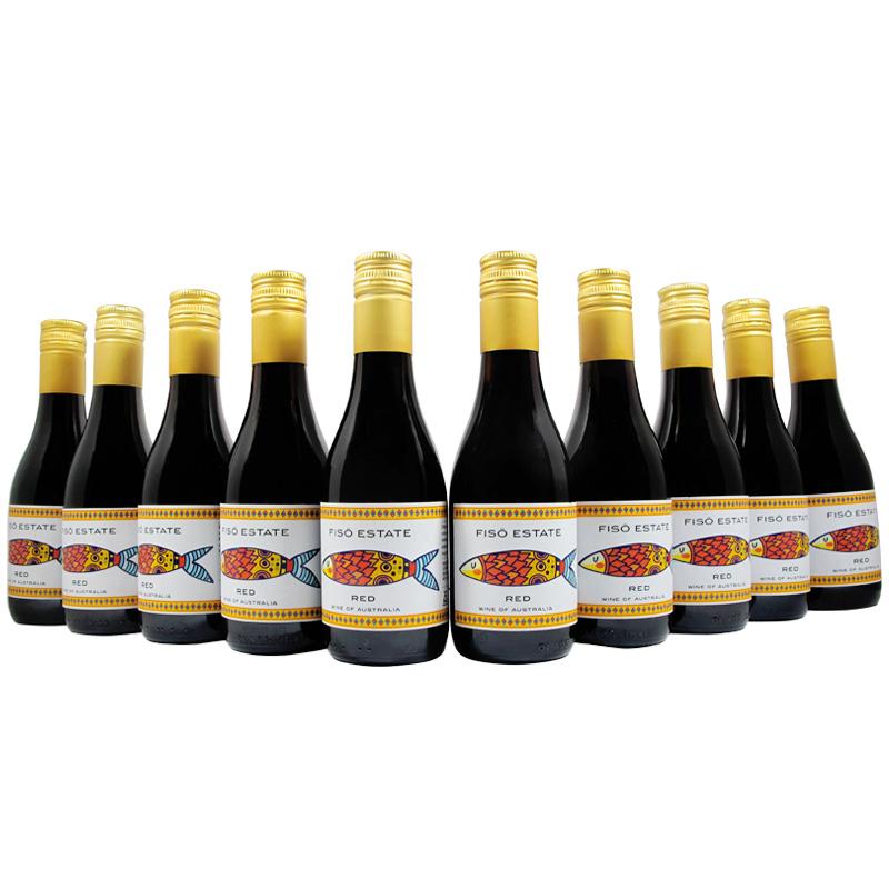 L【女士喜爱】小瓶红酒187ML原瓶进口红葡萄酒10支套装精美礼盒