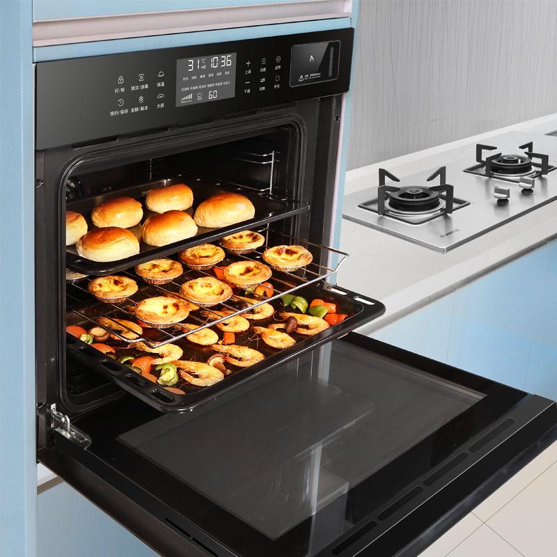欧尼尔OUZK-S1嵌入式蒸烤箱消毒柜三合一电蒸箱家用 蒸烤消一体机