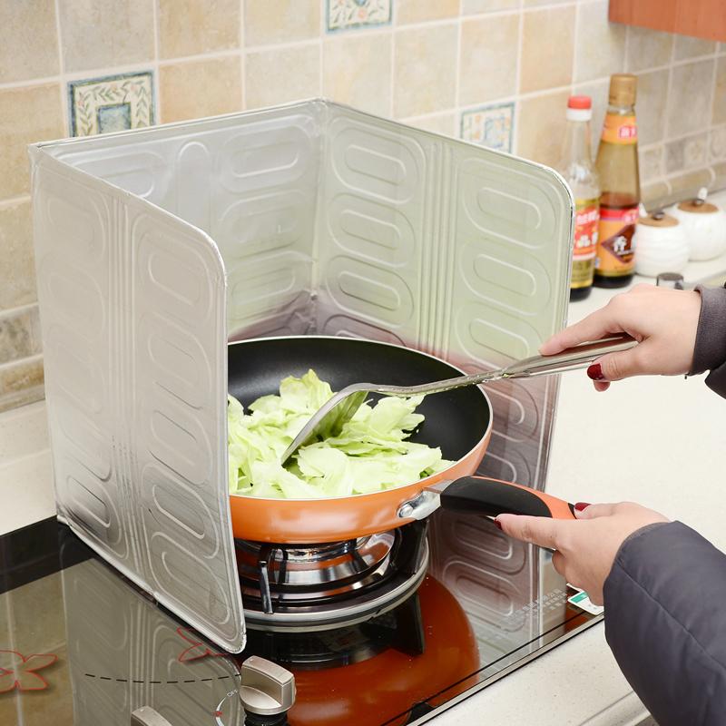 厨房煤气灶台炒菜溅挡板挡油板