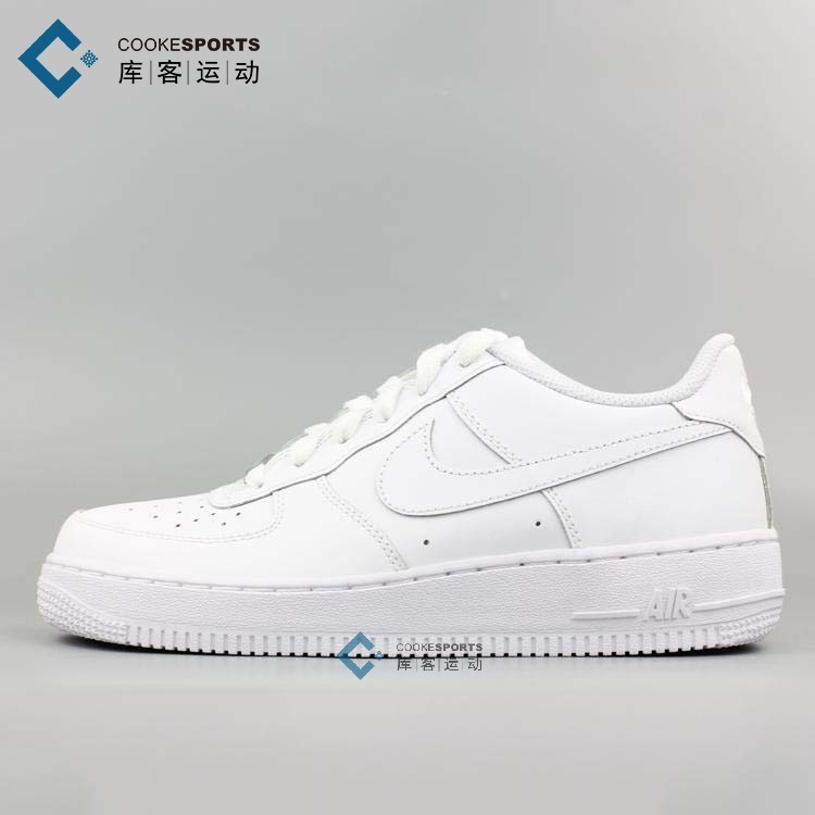 库客 Nike Air Force 1 AF1全白女款 百搭 315115-112 314192-117