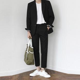 韩版休闲西装男潮流男士帅气修身薄款外套春夏网红小礼服西服套装价格