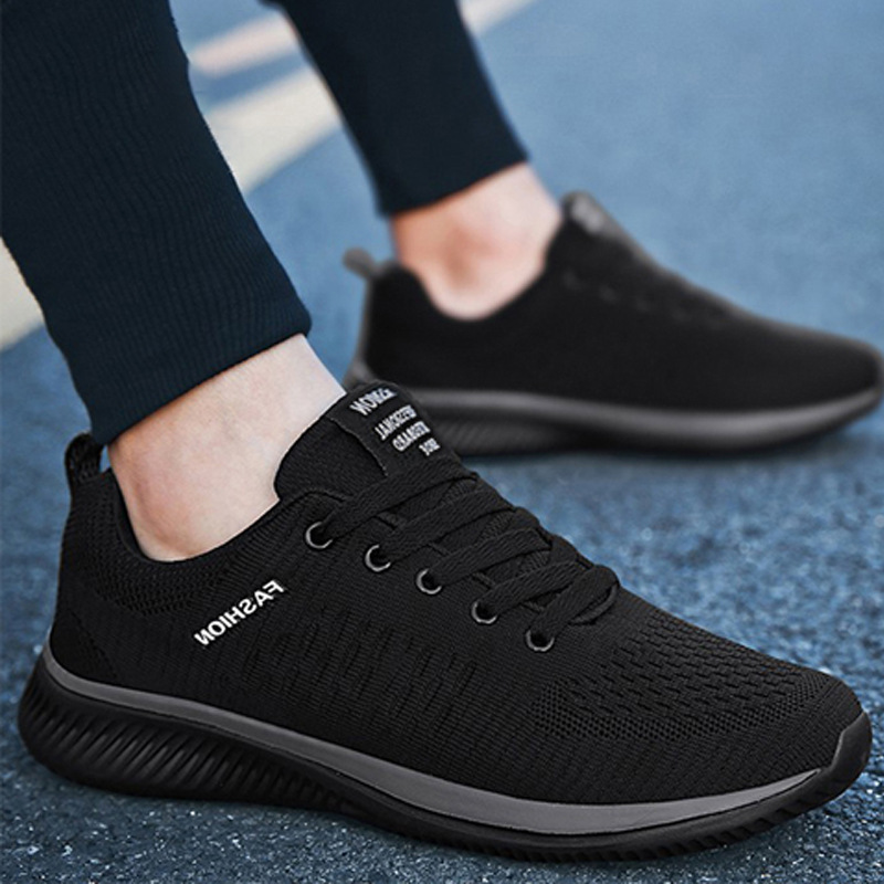 2021 new sports shoes mens new leisure flying weaving mens fashion running shoes leisure mens shoes mesh shoes