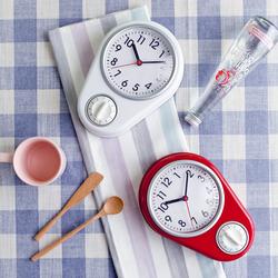 北欧静音厨房表专用钟简约创意家用钟表磁性贴冰箱钟磁铁小挂钟