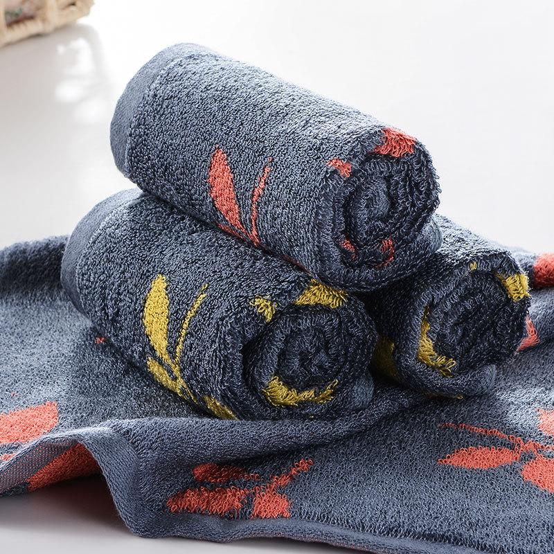 优质提花竹炭竹纤维毛巾 大方巾面巾美容巾 柔软吸水抗菌 34*34
