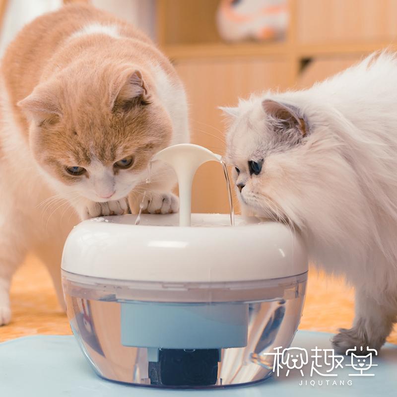 美国酷极智能饮水机自动循环过滤活水猫咪狗狗水碗水盆宠物饮水器