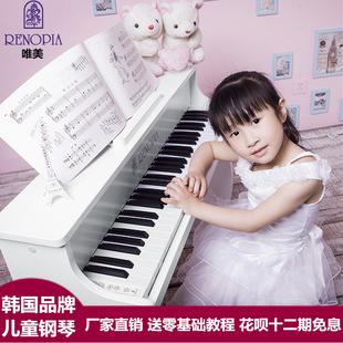 韩国进口renopia61键宝宝儿童钢琴初学电钢琴木质早教玩具电子琴