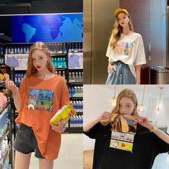 MG小象哆啦A梦联名款个性T恤女装短袖2019新款夏装学生宽松上衣潮