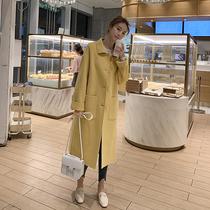 反季节秋冬新款2019双面羊绒大衣女中长款过膝赫本风羊毛呢子外套
