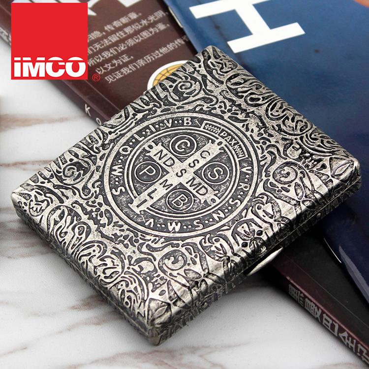 2018 новая коллекция IMCO любит прохладный медный портсигар 20 палочек креативный 6 вырезать лицо мужской Дымовая клип ультратонкая личность