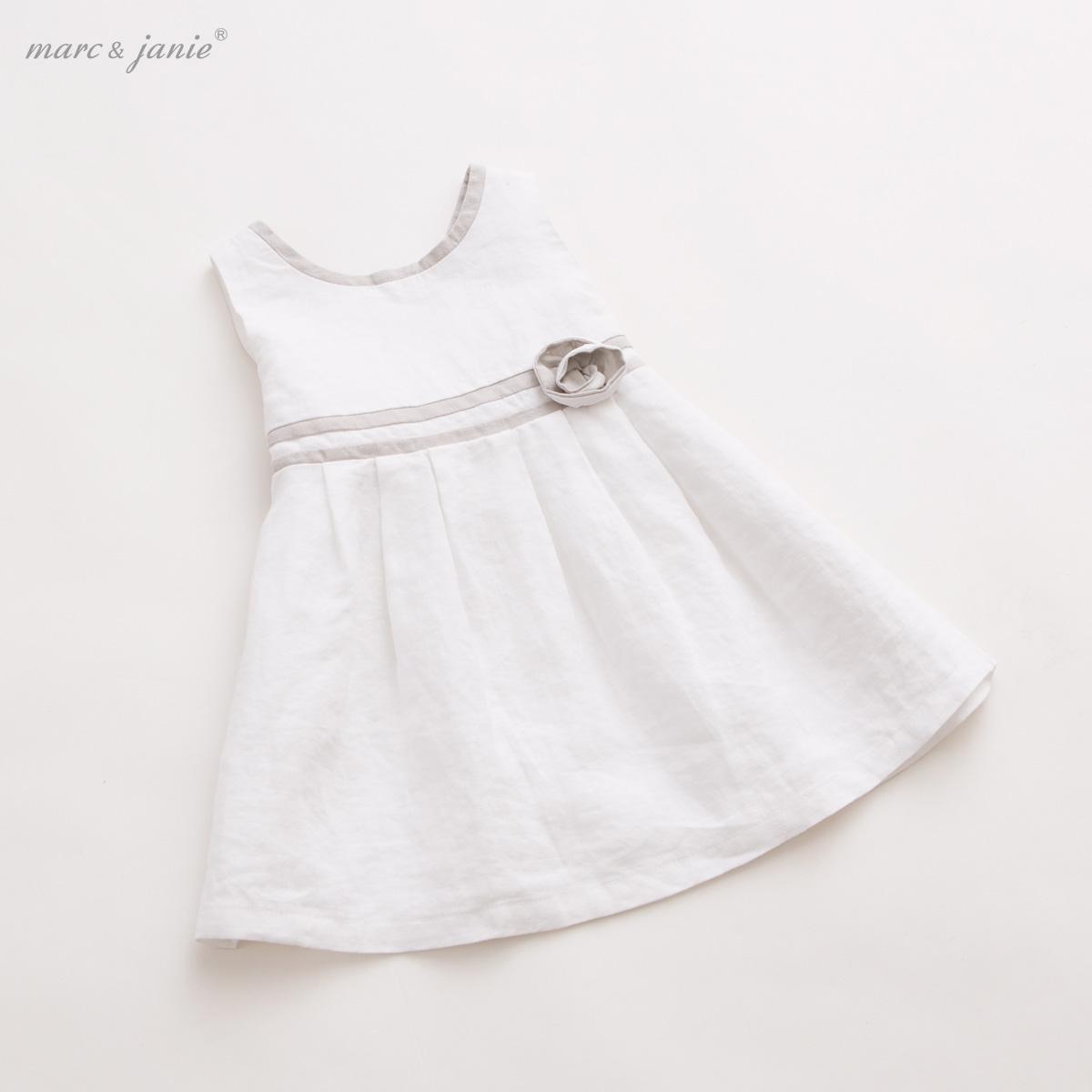馬克珍妮 2016夏裝 女童棉麻公主裙 寶寶嬰兒連衣裙子15317