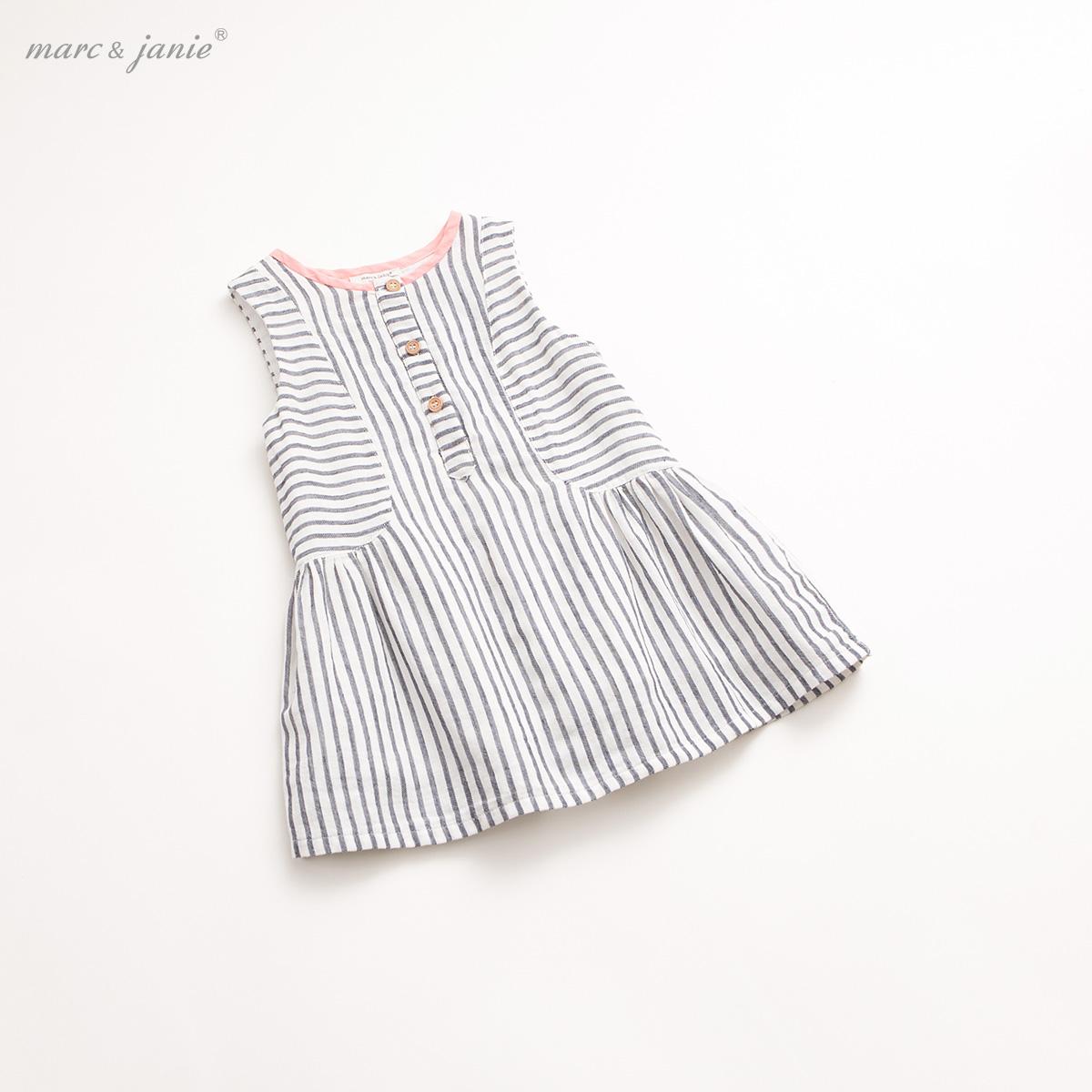 marc janie馬克珍妮夏裝新品寶寶連衣裙 女童兒童棉麻裙子16098