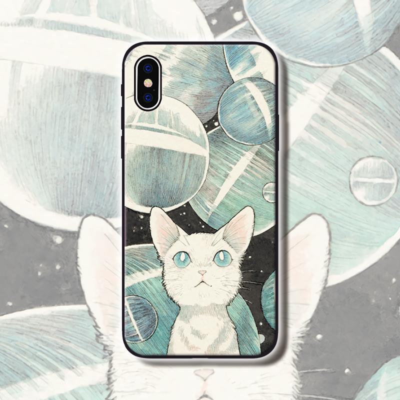 怀旧冷淡意境猫咪插画vivo手机壳正品保证