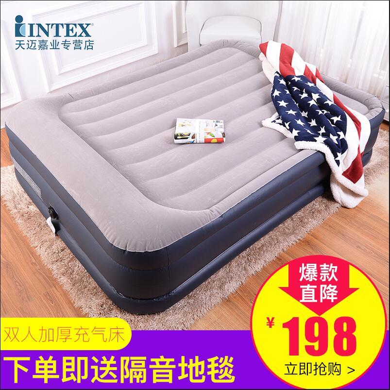 Надувной одноместный коврик пара людей люди утолщённый надувной воздушная подушка кровать двухместный слой увеличить надувной подушки