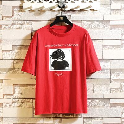 日系白墙 夏装T恤 4色 新款男装宽松大码毛边短袖T恤 ST20 P35