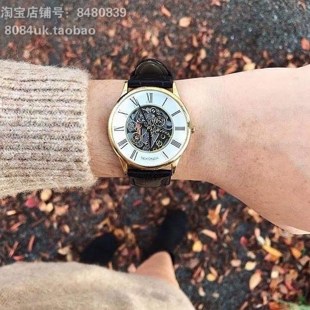 英国正品Sekonda复古罗马数字圆盘石英女手表欧美腕表ins 在途中