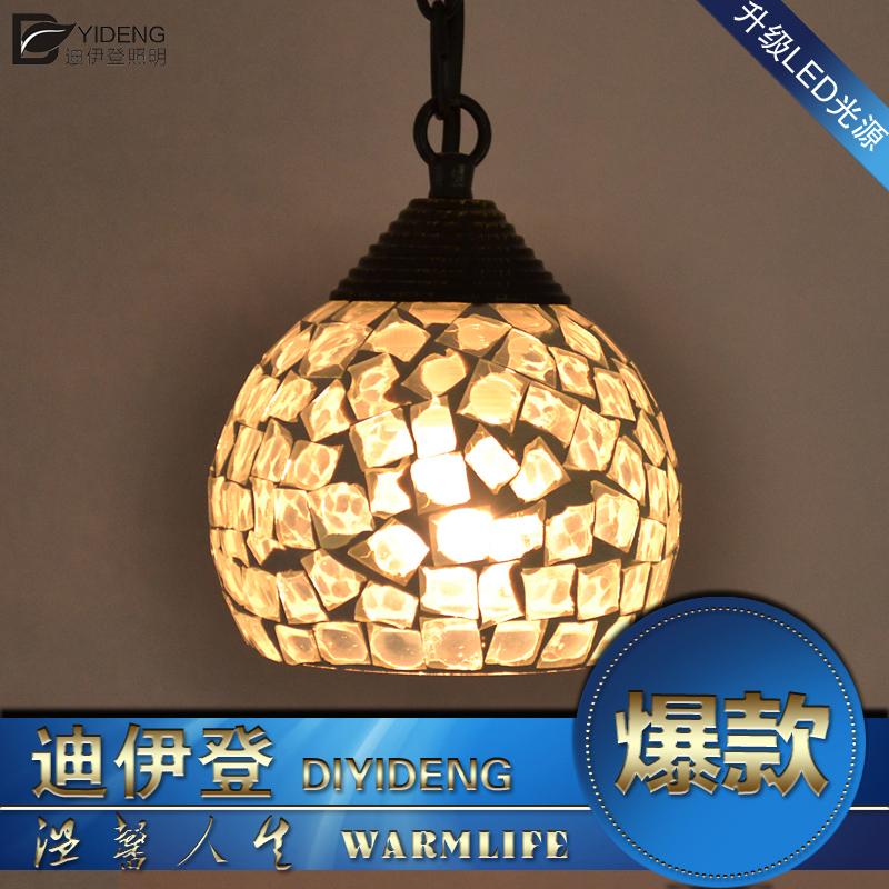 Богемское стекло люстры Ресторан коридор лампы пастырское простота creative Светодиодные лампы освещения