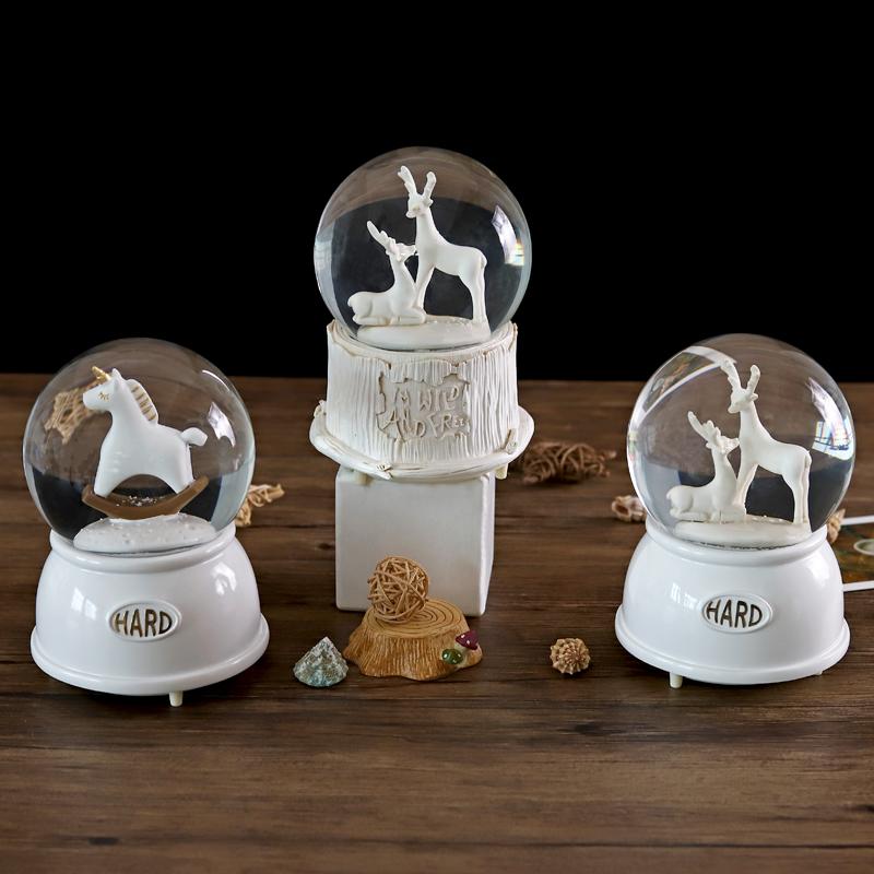 水晶球发光创意儿童女孩音乐盒限9000张券