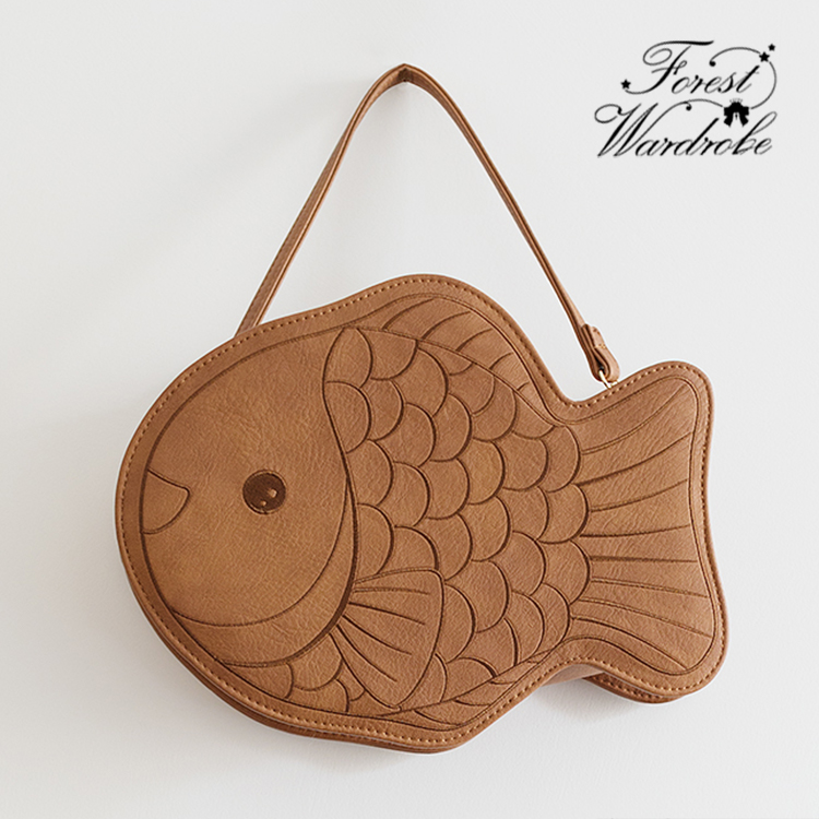 Forest wardrobe bream grilled Japanese daily versatile carrying cute one shoulder female JK bag Lolita bag