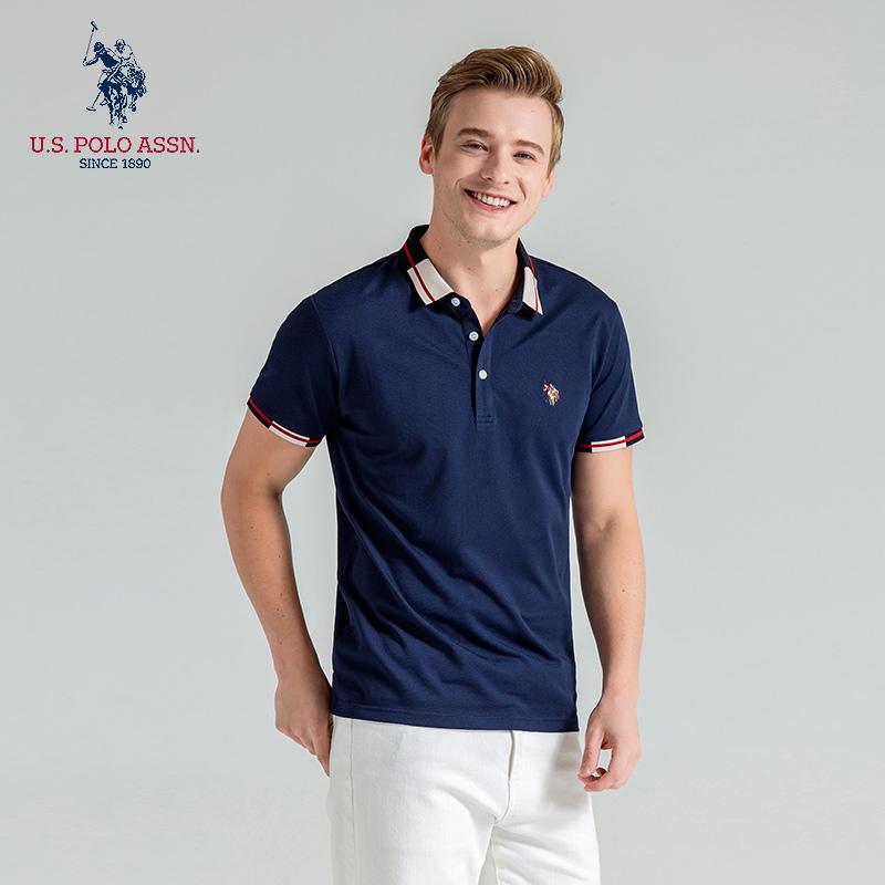 US Polo Association summer Casual Short Sleeve Paul shirt half sleeve polo shirt middle aged Lapel T-shirt