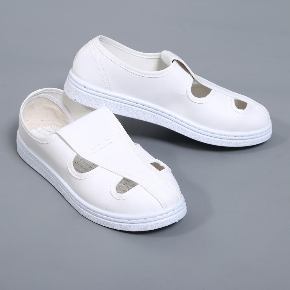 PU白キャンバスのマジックはネットの目を貼って静電の靴の中で靴のPVC皮革の2穴の4穴の綿の靴の工場の靴を防ぎます。