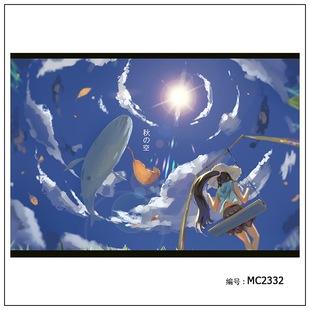 MC2332/创意类 风景 天空 秋千 少女 秋/布画海报壁画贴画价格