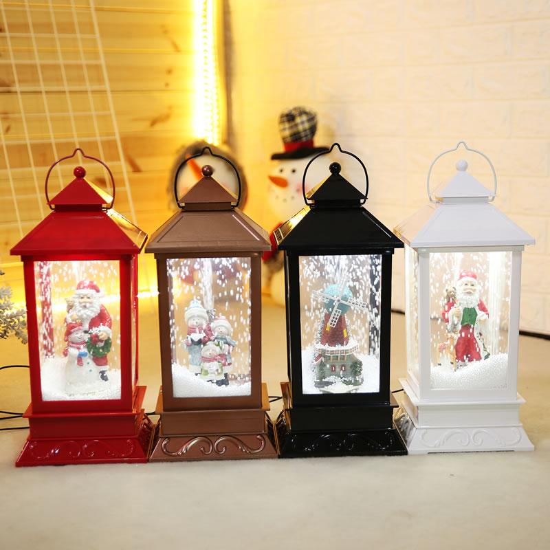 Christmas decorations new snow music light small pendulum lantern shopping mall hotel festival atmosphere scenery props