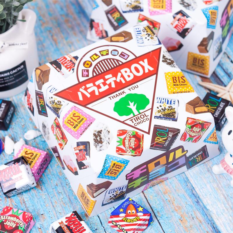 日本进口中秋小零食糖果松尾tirol多彩什锦礼物喜糖巧克力礼盒装