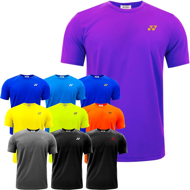 YONEX尤尼克斯YY羽毛球服比赛训练服运动T恤短袖圆领男女新款正品