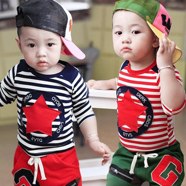 Дети картридж мальчики длинный рукав футболка 2015 весны новых корейских мальчиков Детские Одежда рубашки в конце 1-4 h f от Kupinatao
