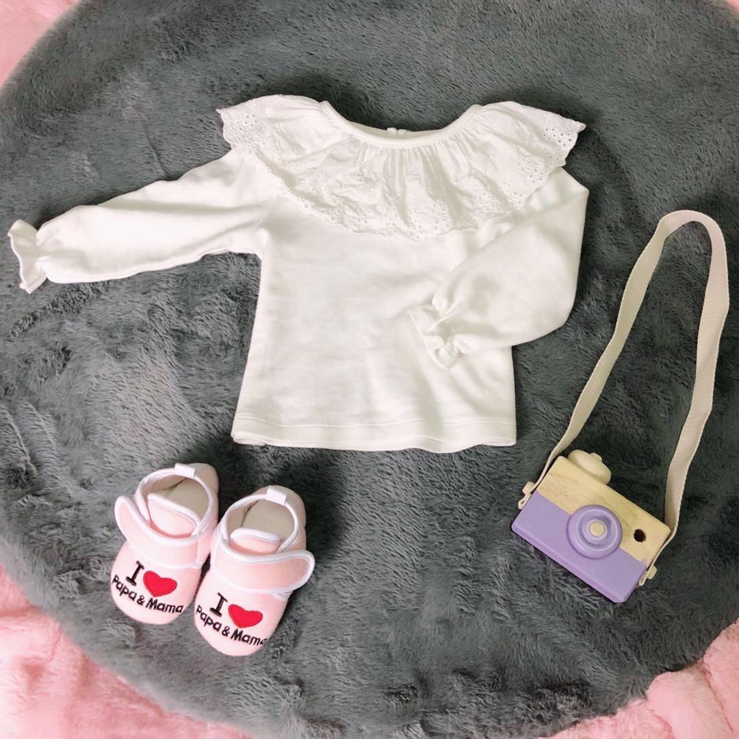 婴儿空调服薄款上衣女宝宝纯棉荷叶边打底衫婴童百搭公主风空调衫