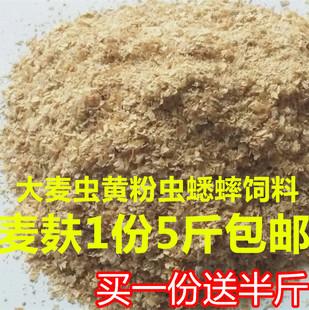 大麦虫黄粉虫麦麸皮小麦麸子诱鱼窝料钓鱼配料鸡鸭饲料5斤包邮