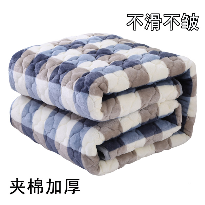 法兰绒毛毯加厚双层珊瑚绒床单单件冬季铺床毯子单双人防滑法莱绒
