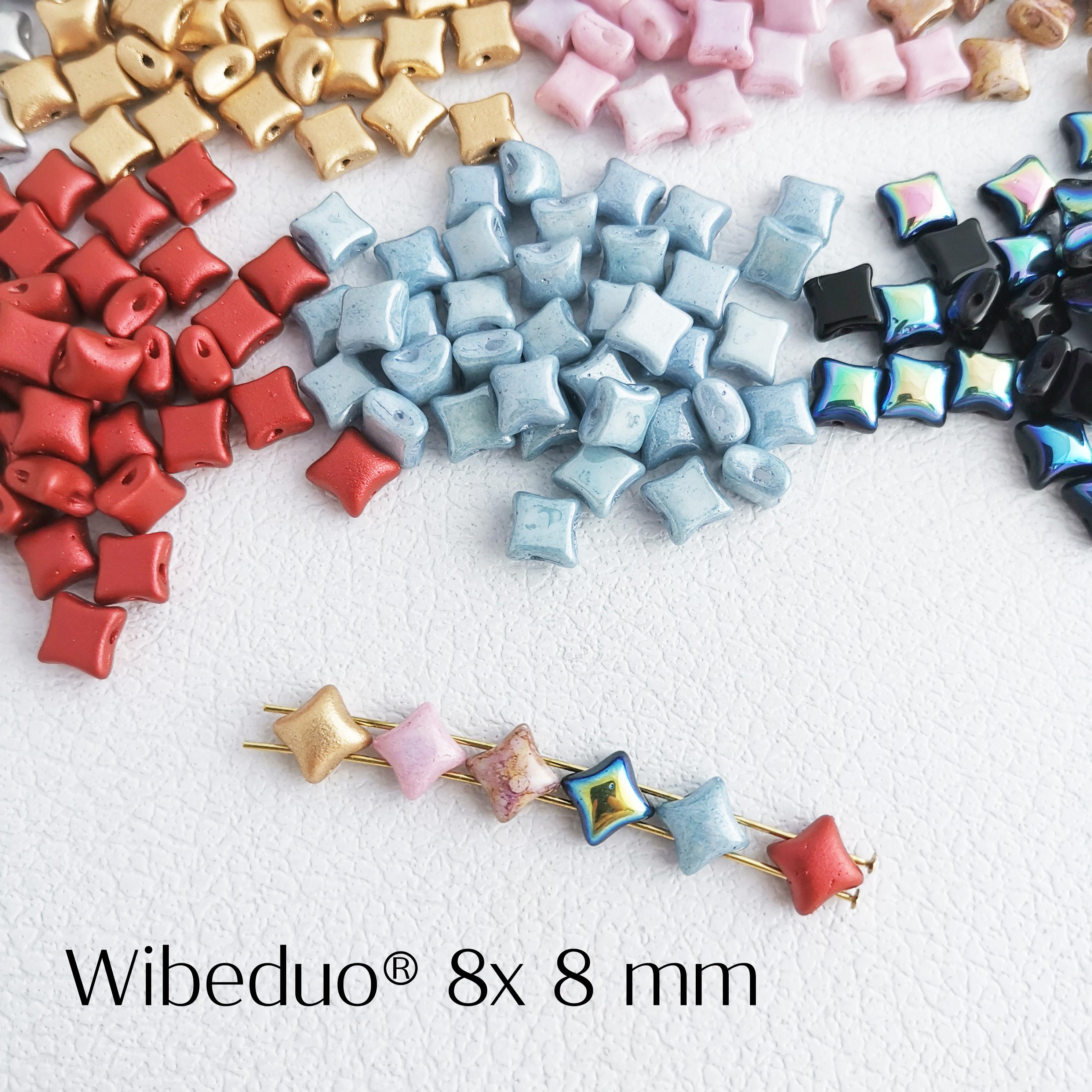 双孔四角星小星星捷克珠10个DIY手工饰品材料配件